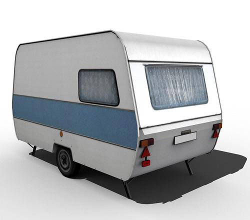 80's caravan [blue]